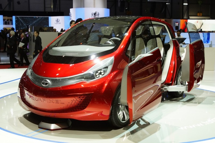 Tata Motors continued to upstage its far-longer established automaking peers at the 82nd Geneva Motor Show overnight with the Tata Megapixel concept, a new four-seater range extended electric vehicle (REEV), with Double sliding doors.