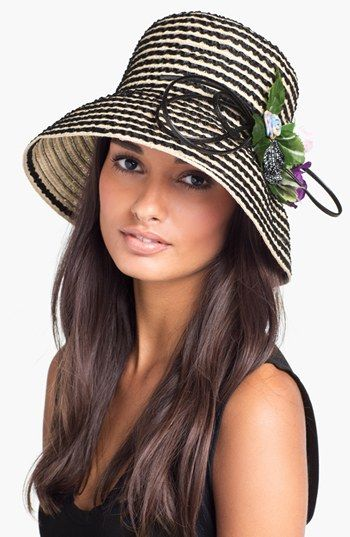 Derby Hat Style: Nordstrom Down Brim with Floral Accent
