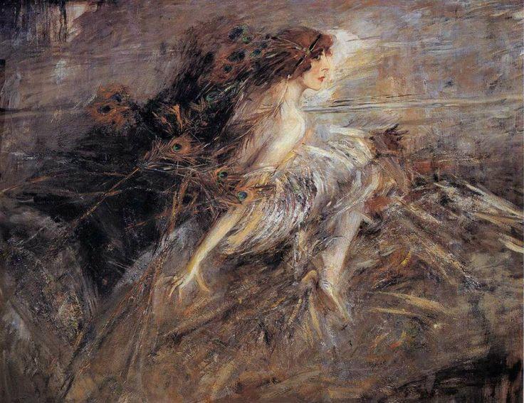 """Giovanni Boldini, """"La marchesa Casati con piume di pavone"""" 1912-1914"""