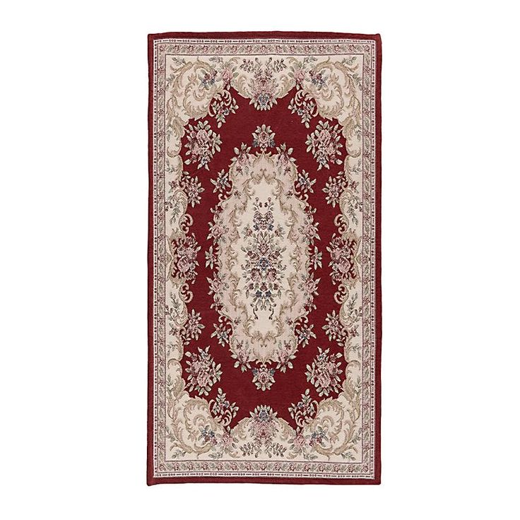 Carpet With Red Design