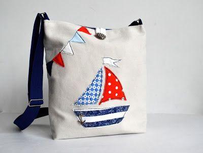 Hand made bag with applique