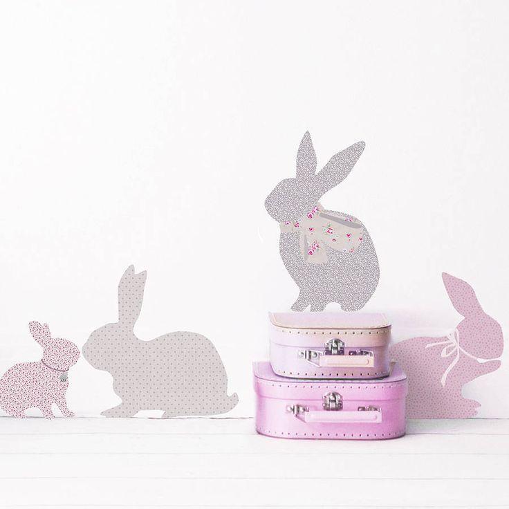 rabbit wall stickers by koko kids | notonthehighstreet.com