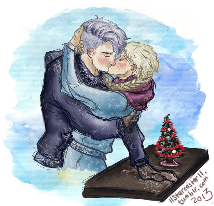 Jack Frost And Elsa Kissing