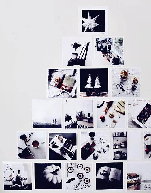 Photos form a Christmas tree