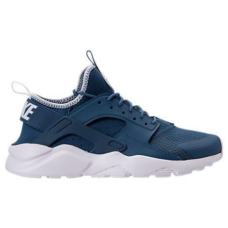 NIKE MEN'S AIR HUARACHE RUN ULTRA CASUAL SHOES, BLUE. #nike #shoes #