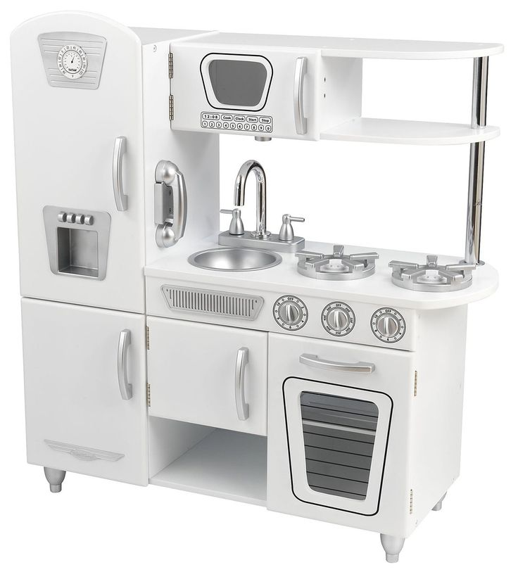 KidKraft Vintage Kitchen - White (but paint all of the silver parts gold)