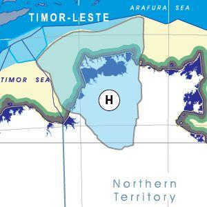 Van Dieman State (capital Darwin) based on the flow of water.