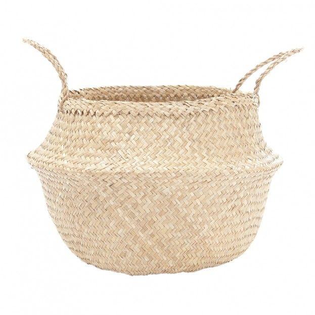 Large Natural Belly Basket