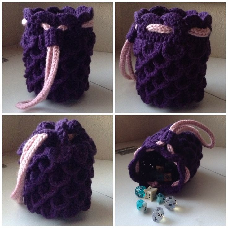 Dragon Dice Bag Crochet Pattern : 17 Best images about Crochet on Pinterest Free pattern ...