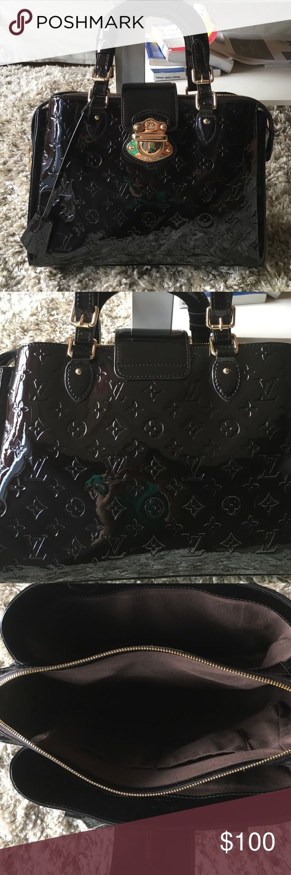 """LV dark purple bag Dark purple new bought from the outlet in Amsterdam.H:9"""" ...W:15"""" Other Bags"""