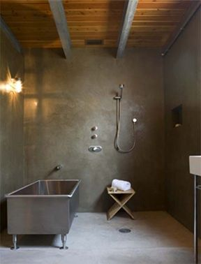 Stainless steel water trough bath.