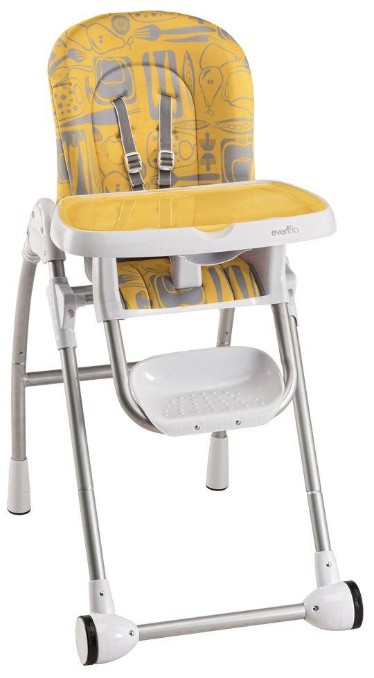 Evenflo Modern 200 High Chair Kitchen Print Tangerine Best Price.