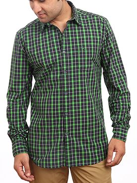 Green checkered shirt
