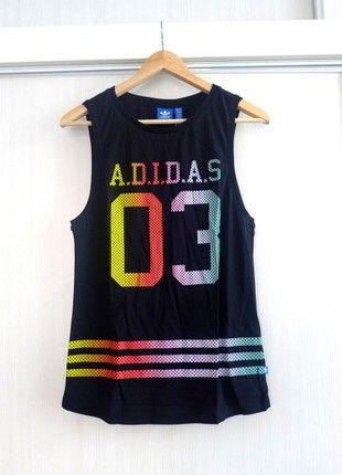 Kupuj mé předměty na #vinted http://www.vinted.cz/damske-obleceni/topy-bez-rukavu/16904366-cerne-stylove-tilko-adidas-originals-s-cislem-basketball-style