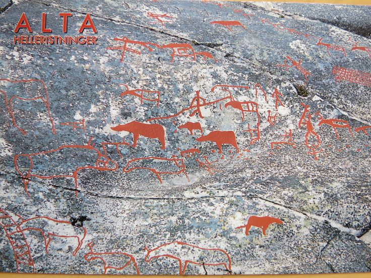 world heritage site in Norway - the Alta rock drawings