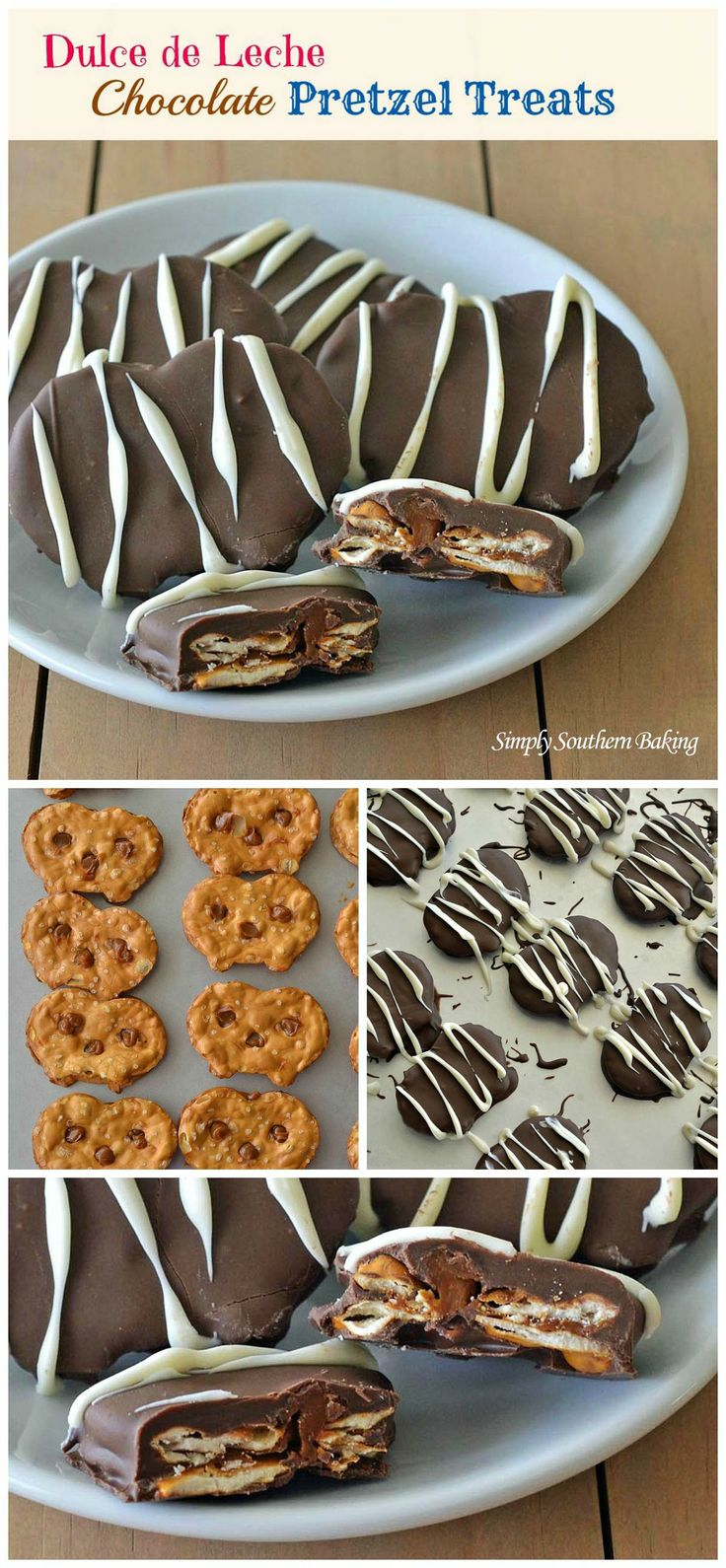 Dulce de Leche Chocolate Pretzel Treats | Simply Southern Baking