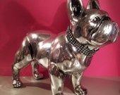 """Statue bouledogue français céramique, """"Shine"""" unique, L.Terrier : Accessoires de maison par les-animaux-de-laure-terrier"""
