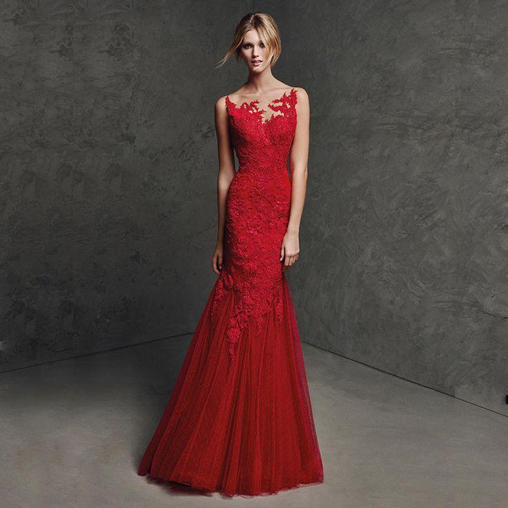 LA014 сексуальная спинки vestido лонго де феста длинные красный партии платье новое прибытие вечерние платья длинные русалка красные кружева вечерние платье