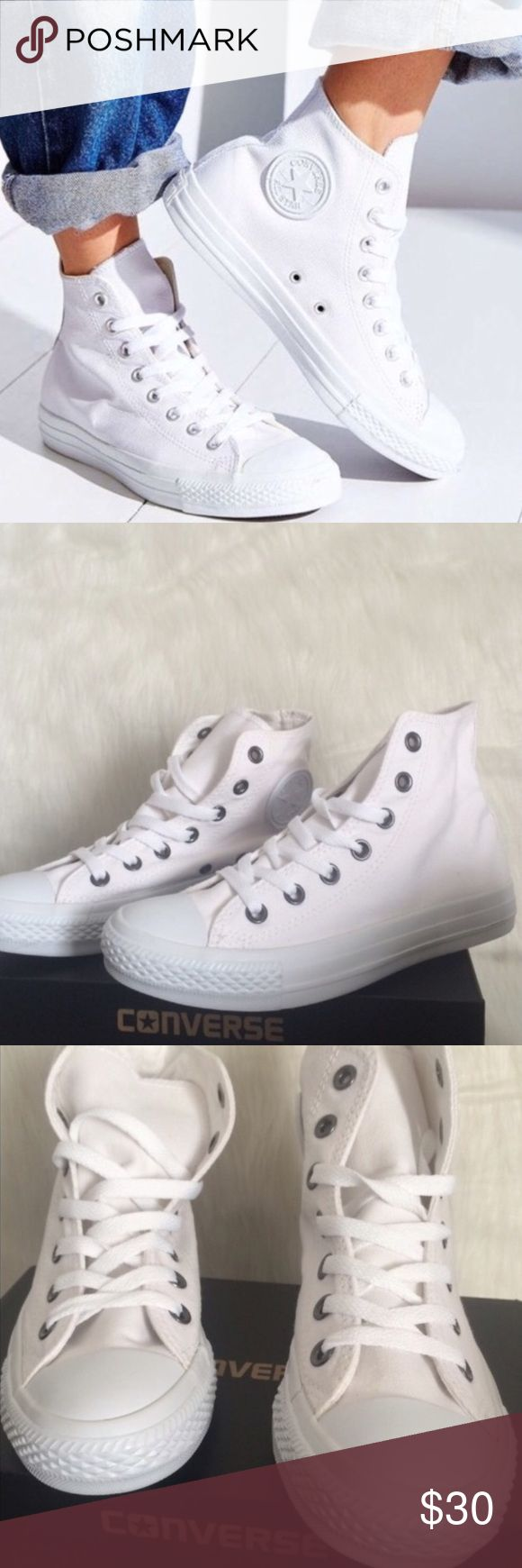 🎉1 HOUR SALE! CONVERSE WOMENS SIZE 6.5 ALL WHITE In like new condition. No box Converse Shoes Sneakers