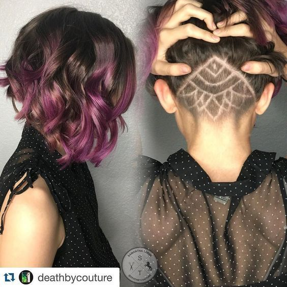 Undercut ombre hair!