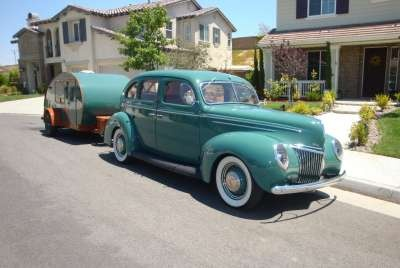 1939 Ford Deluxe With 1947 Tear Drop Trailer***Research for possible future project.