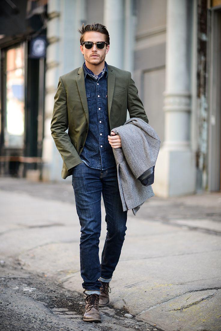 デニムを使ったジャケットスタイル