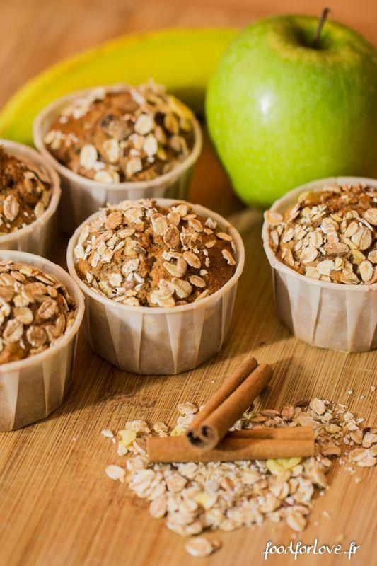 Photo Muffins aux Pommes, Muesli, Noisette et Cannelle