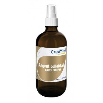 Argent colloïdal spray 20PPM  Hydrate, purifie et apaise la peau.  Usage externe.