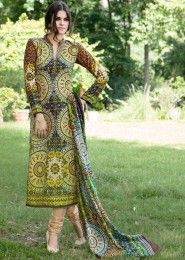 Casual Wear Green Pashmina Printed Churidar Suit