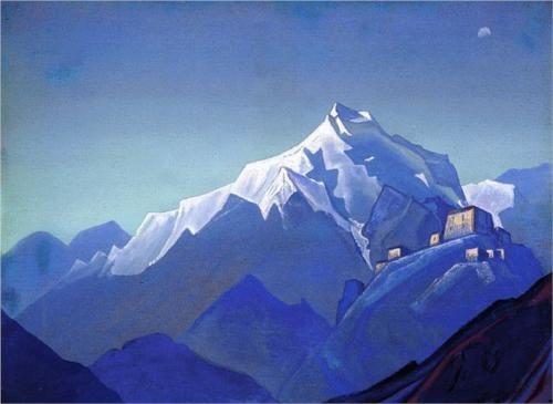 Himalayas. Blue mountains. - Nicholas Roerich