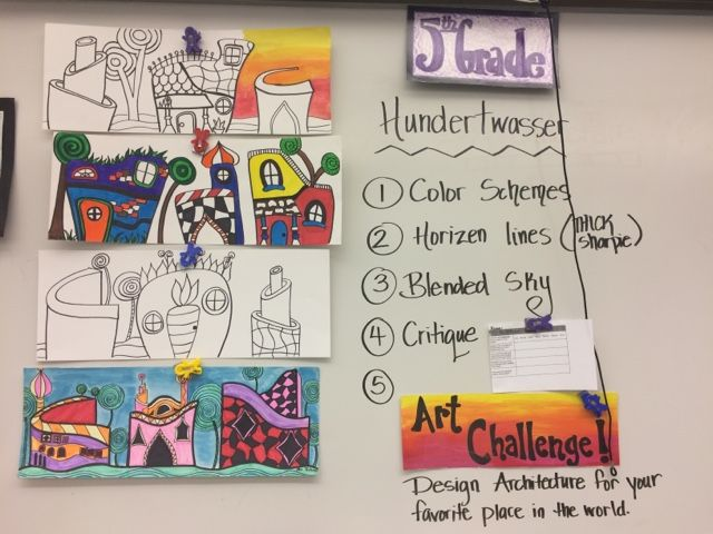 Jamestown Elementary Art Blog: Reporting... Fifth grade Freidrich Hundertwasser architecture