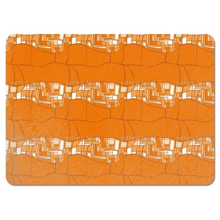 Uneekee Stilismo Orange Placemats (Set of 4) (Stilismo Orange Placemat)