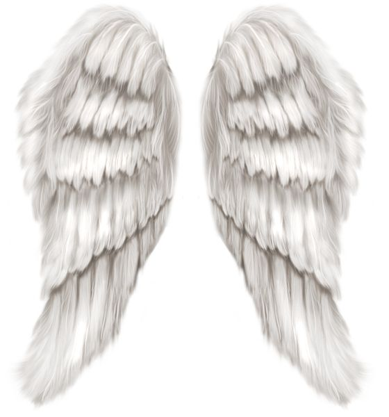 White Angel Wings Transparent PNG Clip Art Image