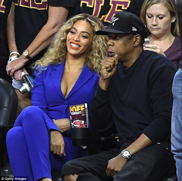 Date night: Beyonce was spotted sitting courtside with husband Jay Z at Game 6 of the NBA Finals in Cleveland, Ohio on Thursday night