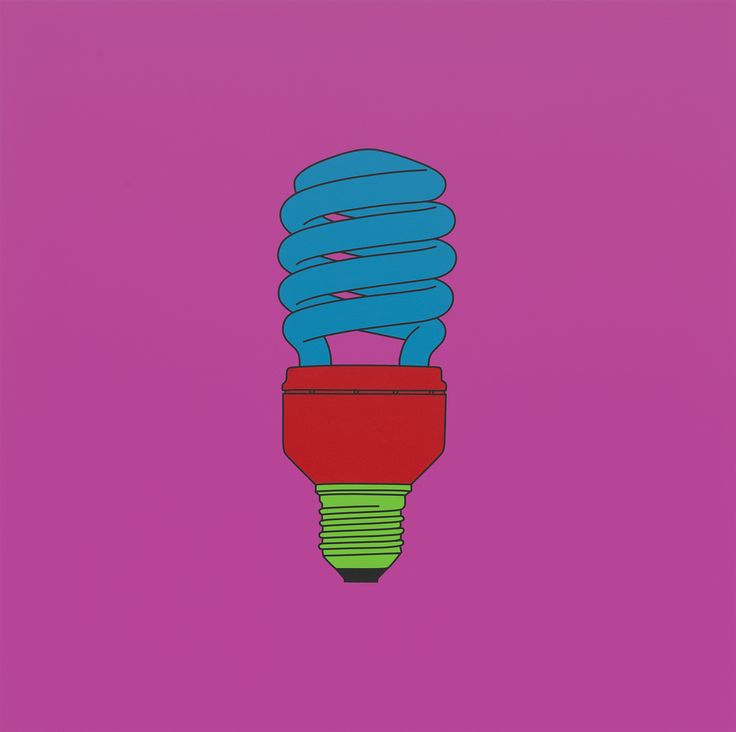 Michael Craig-Martin: Transience at the Serpentine Gallery. Michael Craig-Martin; Untitled (light bulb), 2014; Acrylic on aluminium; © Michael-Craig Martin