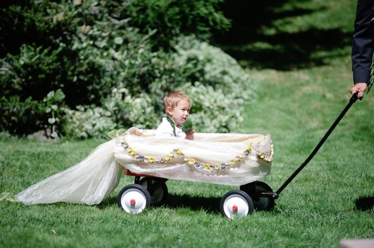 If the ring bearer needs to be pulled in a wagon because he can't walk yet