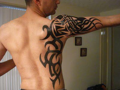 Tatuagem Tribal Masculina Braço e Costas