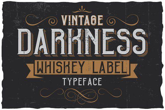 @newkoko2020 Vintage Darkness Label Font by Vozzy on @creativemarket #bundle #set #discout #quality #bulk #buy #design #trend #vintage #vintagegraphic #graphic #illustration #template #art #retro #icon