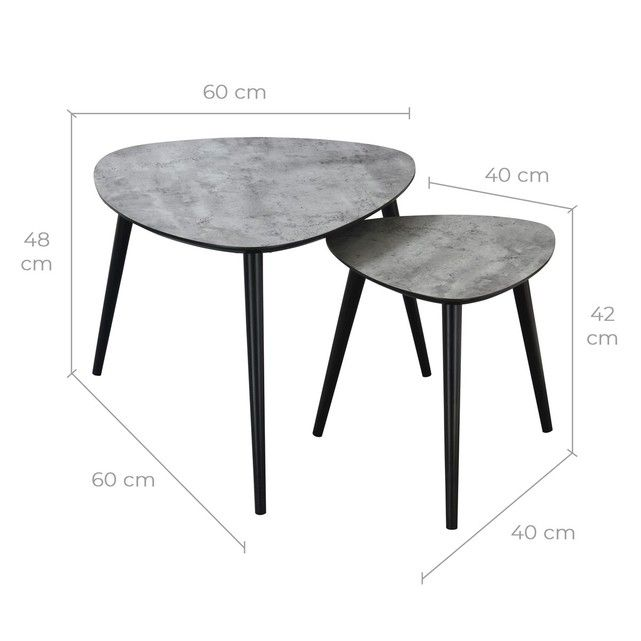 table basse scandinave effet beton lot