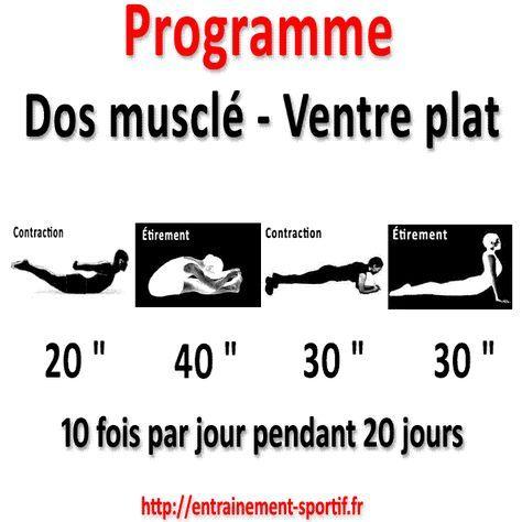 Programme dos musclé ventre plat en 20 jours pour une silhouette fine et élancée