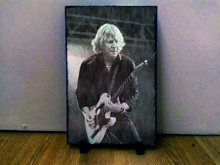 "Rick Parfitt Status Quo Sketch Art on Slate 12x8"" rare memorabilia collectables"