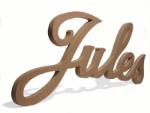 sierlijke houten letters