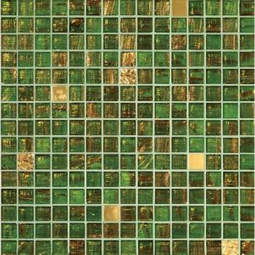 gold and green tiles