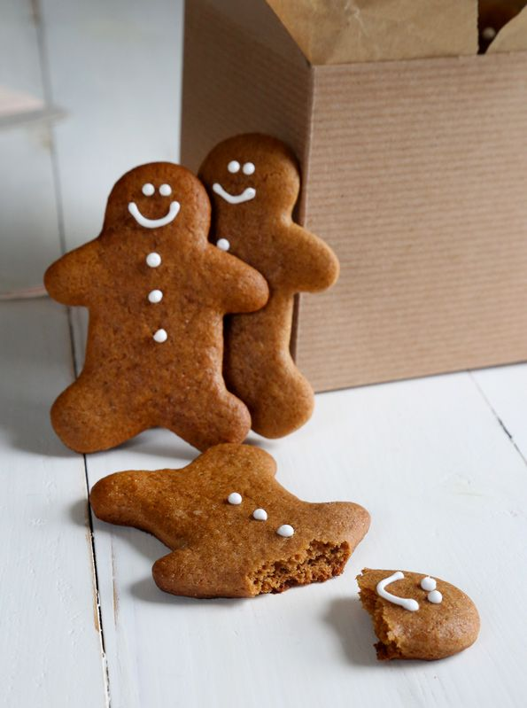 These gluten free gingerbread men cookies are soft, chewy and perfectly spiced for all your holiday cookie-baking needs—or any time of year.