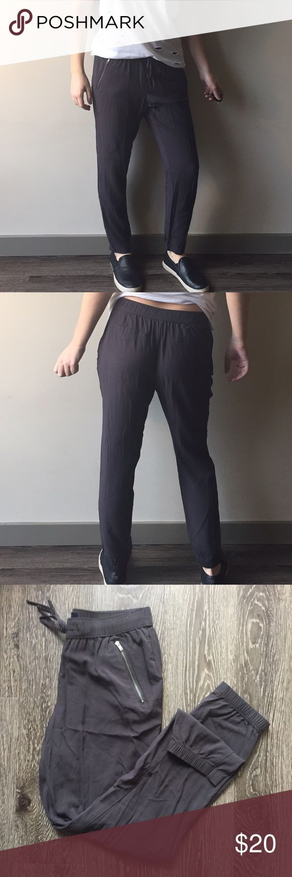 GAP charcoal joggers Lightweight and breezy joggers purchased from the GAP outlet. Like new condition. GAP Pants Track Pants & Joggers