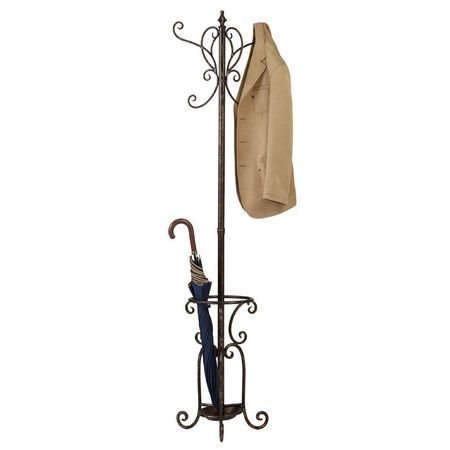 Iron coat rack with an umbrella tray and drip-pan.Product: Coat rack    Construction Material: Iron metal   ...