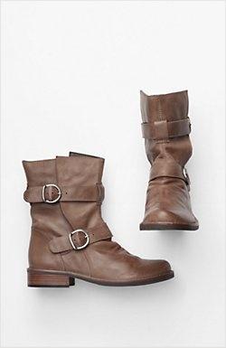 short moto buckle boots