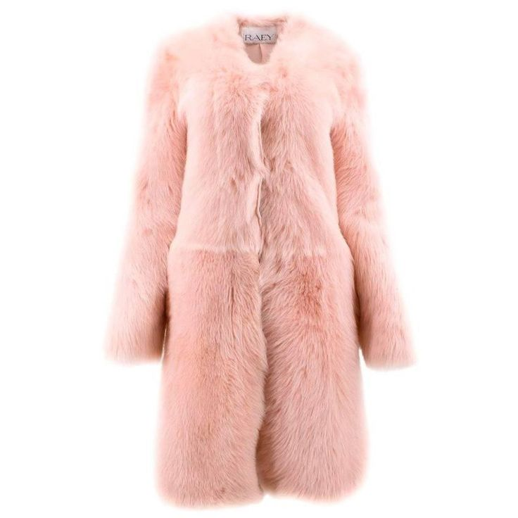 Raey Barley Sugar Pink Sheepskin Fur Coat Size XS   From a collection of rare vintage coats and outerwear at https://www.1stdibs.com/fashion/clothing/coats-outerwear/