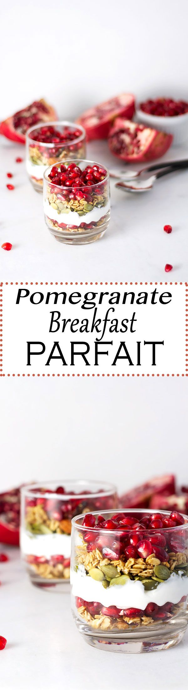 Would make such a gorgeous dessert, too! // Pomegranate Breakfast Parfait!