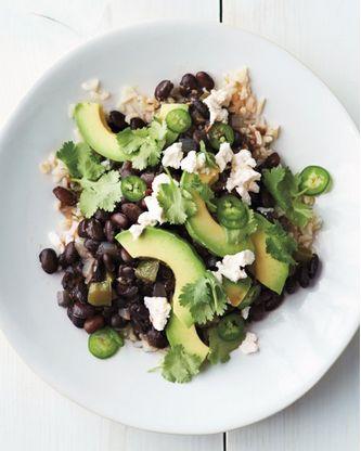 Black Beans & Avocado over Rice